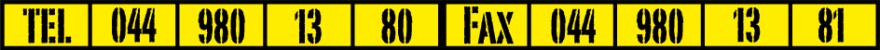 TEL 044 980 13 80 - FAX 044 980 13 81